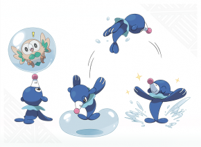 Popplio concept artwork - Pokemon Sun and Moon