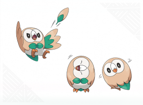Rowlet concept artwork - Pokemon Sun and Moon